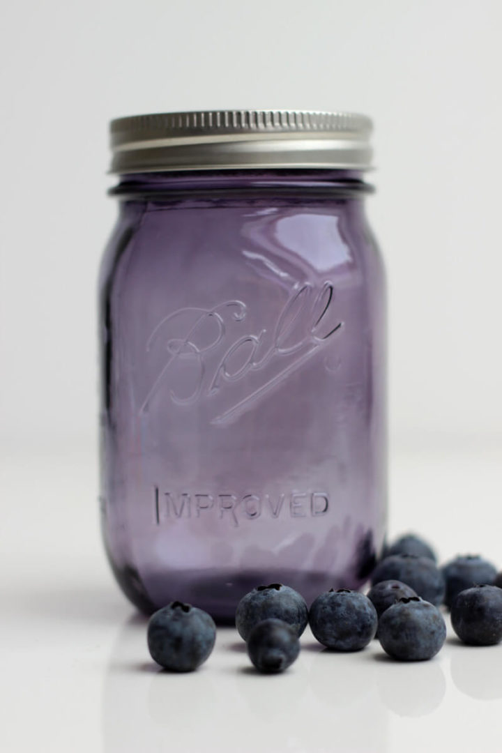 Ball Mason Jar 16oz lila Blueberries
