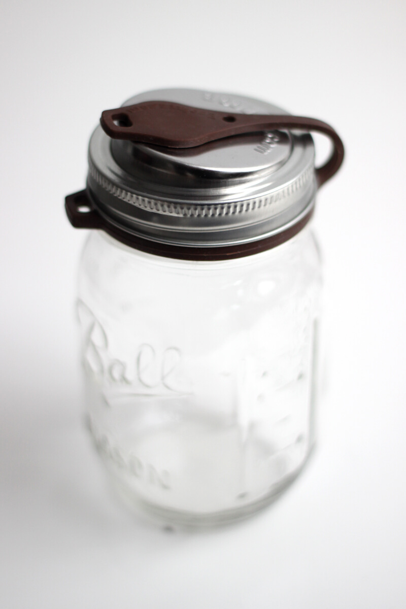 EcoJarz Poptop Lid Regular Brown on Jar