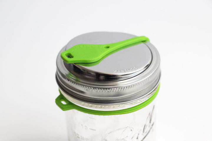 Green EcoJarz Poptop Lid for Wide Mouth