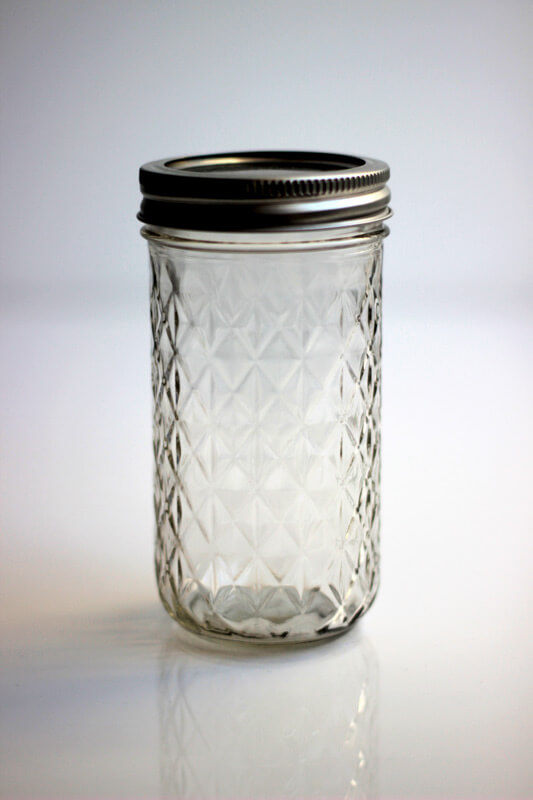 Mason Jar Quilted 12oz - Regular Mouth