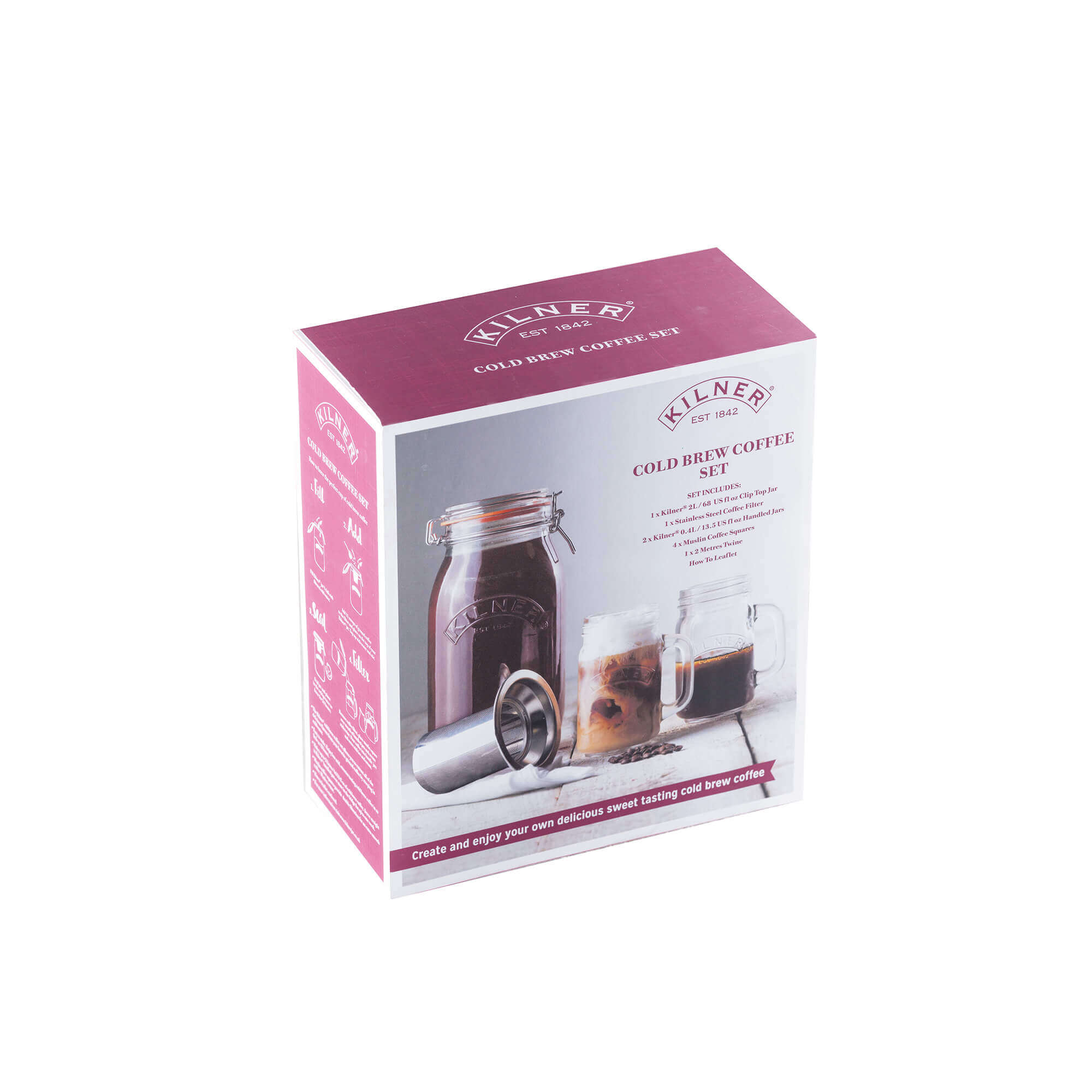 Cold Brew Coffee Set von Kilner in der Box